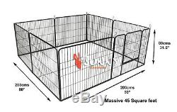 Heavy Duty 8 Piece Puppy Dog Run Jouer Pen Pen Enclosure Whelping Cage Playpen