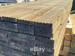 Heavy Duty Haut De Gamme Bois Traité Platelage Boards Épais De X 150 MM De Large En Bois