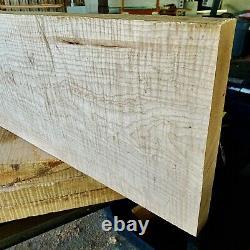 Heavy Flame Figured Eastern White Maple Body Billet 48x14.5 X 1.901 Pièce