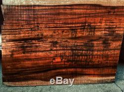 Insensément Rare 1/2 X 20 X 28 Lourd Flammé Hawaiian Koa 1pc Explorateur Haut