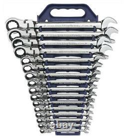 Jeu Métrique De 16 Pièces De La Tête Flex Wrench Gear