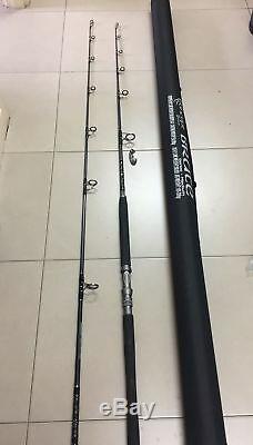 Jig / Pop Popper Popping Rod Lourde 3 Pièces + Dur Voyage Case Heavy Duty Rod