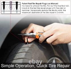 Kit De Réparation De Fiche De Pneus Lourd De Service Plat Patch Puncture Fix Outils Camion De Voiture 98pcs