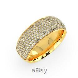 Last Piece 2.00ct Multirang Diamant Demi-éternité Bague En Or Jaune Lourd