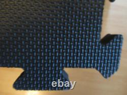 New 9 Piece 55 Square Anti-fatique Black Beveled Rubber Plancher Lourd Mat