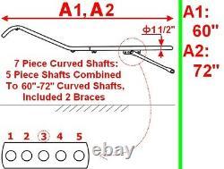 New Easy Entry Heavy Duty Ajustable 7 Pièces Arbres Courbés 60-72 Unité