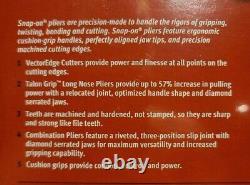 New Snap On Heavy Duty 3 Pièces Pinces, Cutters Set Pl330acfk (noir)