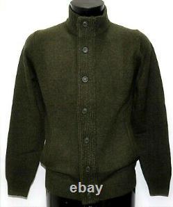 Nouveau Barbour Cardigan Wool Dark Green Patch Zip Thru Mkn0731 Sweater Patches