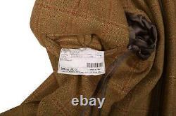 Nouveau Belvest Heavy British Tweed Unlined Sportcoat Leather Trim Patch Pocket 40 R