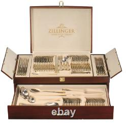 Nouveau Zillinger Gold Heavy 72 Piece Cutlery Set Stainless Steel Canteen Christmas