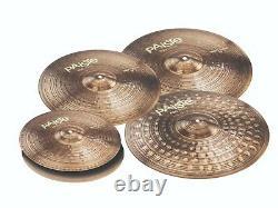 Paiste 900 Série 5 Pièces Ensemble De Cymbales Étendus Lourds / Pack De Voyage! /modèle-190hxtx