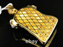 Pendentif 10k Yellow Gold 1.5 Inch Diamond Mini Jesus Face Piece Heavy Head