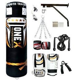 Punch Bag 3ft/4ft/5ft Filled Heavy Duty Punching Kick Sacs De Boxe Ensemble Mma Fitnes