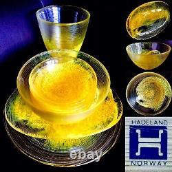 Rare Collectors Vintage Heavy Norwegian Hadeland Glass 10 Piece Tableware (6kg)