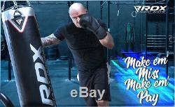 Rdx 5ft Lourd Duty Rempli De Boxe 17 Pièces Coup De Pied Coup De Poing Sac Martial Arts Set Noir