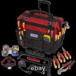 Sealey 24 Piece Electricians Tool Kit In Heavy Duty Tool Bag