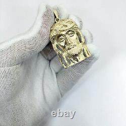Solide 14k Yellow Gold Heavy Jesus Piece Gold Jesus Pendant 13.7g 2