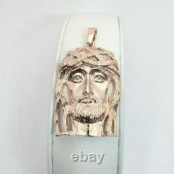 Solide 18k Rose Gold Heavy Jesus Piece Gold Jesus Pendant 16.1g 2