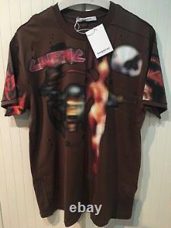 T-shirt Givenchy Pieced Et Détressed'heavy Metal', M