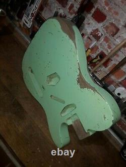Telecaster Body Surf Green Heavy Relic Nitro 2 Pièce Alder USA Spec