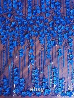 Tissu 3d De Dentelle De Mariage Lourd Perlé Robe De Mariée Applique Patch