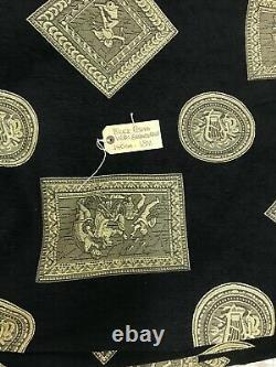 Tissu Ameublement Roman Chenile 140cm X 18m Pièce Revêtement Noir
