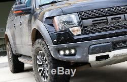 Triple 10w Cree Led Pods Withlower Pare-chocs Support De Montage Pour Fil 10-14 Ford Raptor