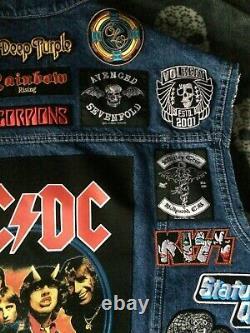 Veste De Combat Personnalisée Avec Votre Collection De Patch Personnel Heavy Metal Thrash Death