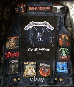 Veste Personnalisée Bataille Avec Votre Collection Personnelle Patch Heavy Metal Doom Mort