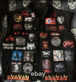 Veste Personnalisée Bataille Avec Votre Collection Personnelle Patch Lourde Death Metal Thrash
