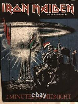 Vintage As New Iron Maiden Back Patch, 2 Minutes À Minuit 1984. Métal Lourd