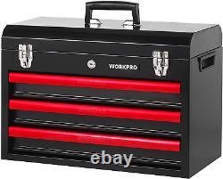 Workpro Mécanique 408-piece Tool Set Avec 3 Tiroirs Heavy Duty Boîte En Métal W009044a